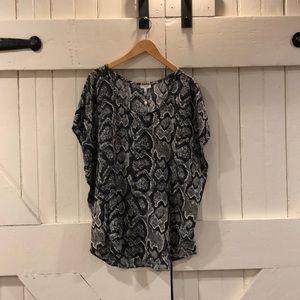 joie oversized silk  blouse